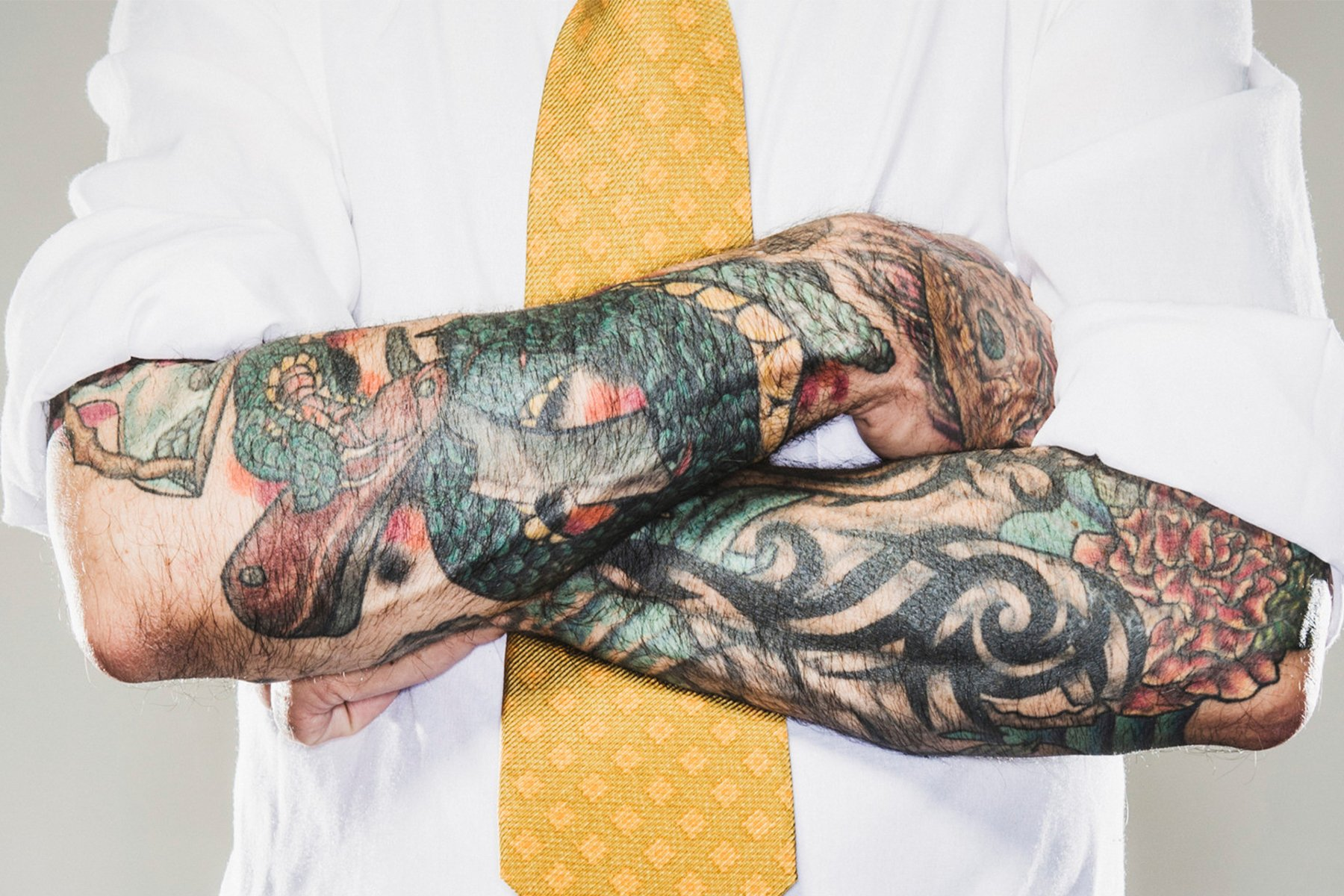 Tattooed Office Worker